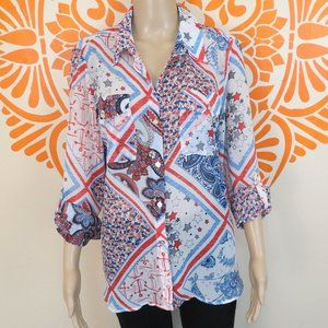 Tommy Hilfiger Red White & Blue Blouse M